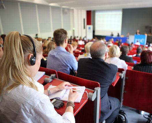 Experienced conference interpreters at FU Berlin - BDÜ-Kongress - 05