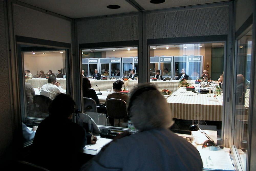 Konferenzdolmetschen in Düsseldorf bei einer Europäischen Betriebsratssitzung